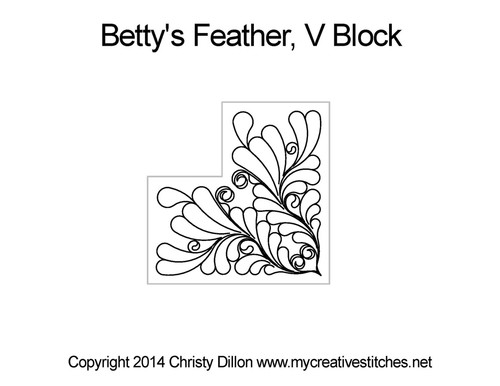 Betty's feather v block quilt design
