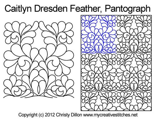 Caitlyn Dresden Feather Edge-to-Edge