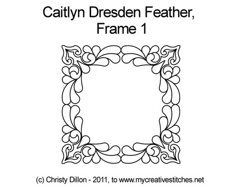 Caitlyn dresden feather digital frame 1 design