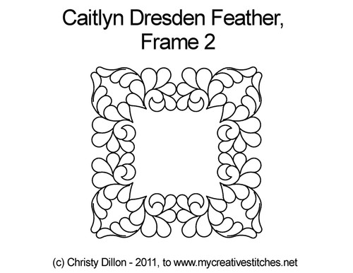 Caitlyn dresden feather computerized frame 2 design