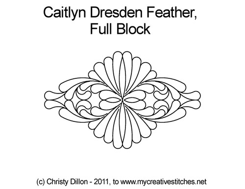 Caitlyn dresden feather full block quilt pattern