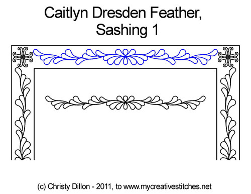 Caitlyn dresden feather sashing 1 quilt pattern