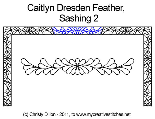 Caitlyn dresden feather sashing 2 quilt pattern