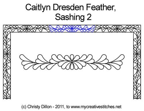 Caitlyn Dresden Feather Sashing 2