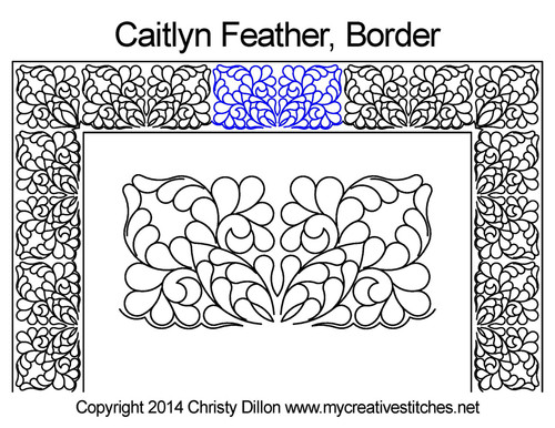 Caitlyn feather border quilt design