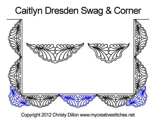 Caitlyn dresden swag & corner quilt design
