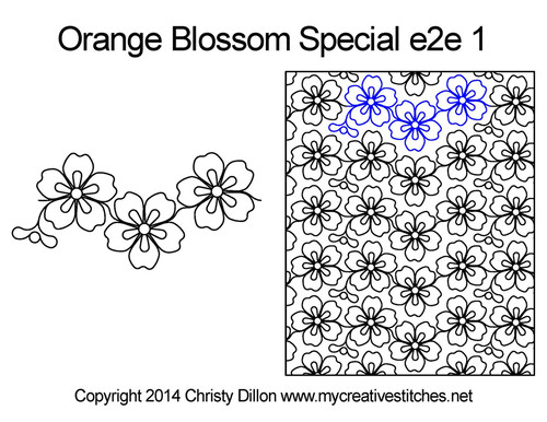 Orange blossom special e2e 1 quilt pattern