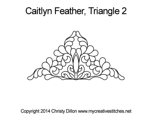 Betty's feather triangle 2 quilting patterns