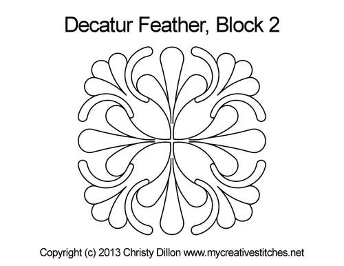 Decatur feather block 2 quilt design