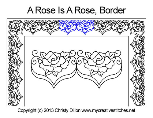 A rose is rose border quilt design