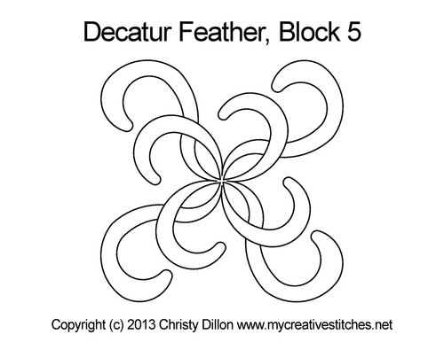 Decatur feather block 5 quilting design