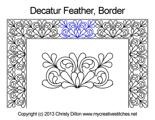 Decatur feather border quilting pattern