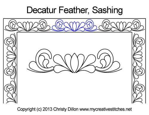 Decatur feather sashing quilt design