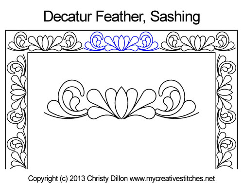 Decatur feather sashing quilt design