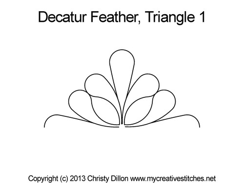 Decatur feather triangle 1 quilting design