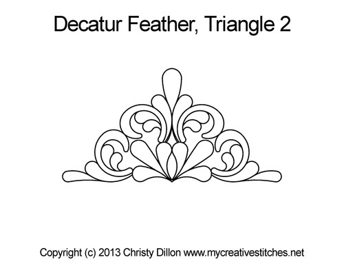 Decatur feather triangle 2 quilting design