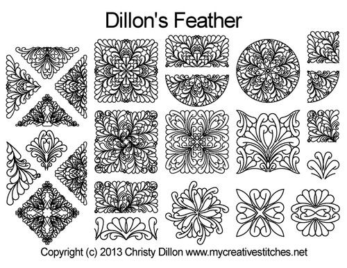 Dillon's feather quilting patterns free