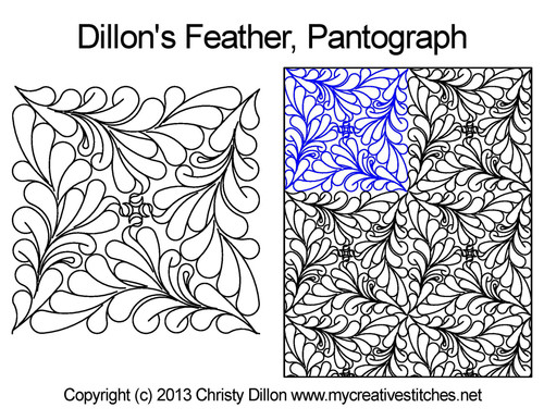 Dillon's feather long arm quilting pantographs