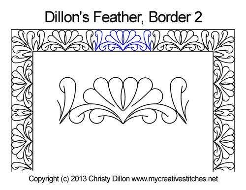 Dillon's feather border 2 quilting design