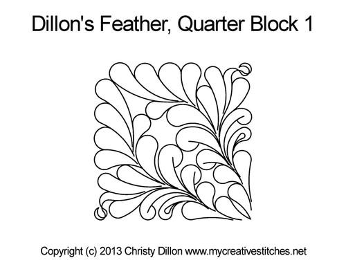 Dillon's Feather Quarter Block 1