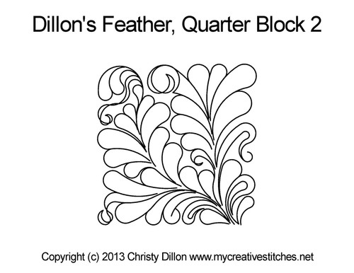 Dillon's feather quarter block 2 quilt design