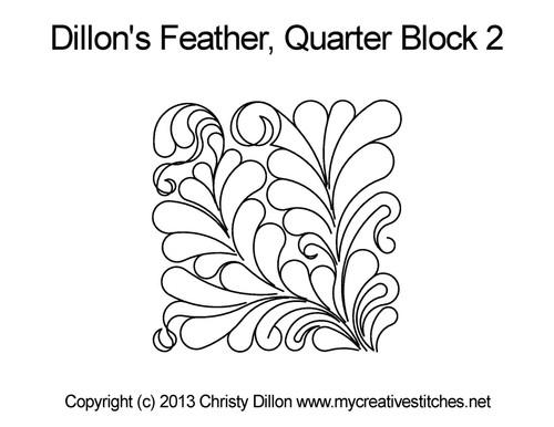 Dillon's feather quarter block 2 quilt design
