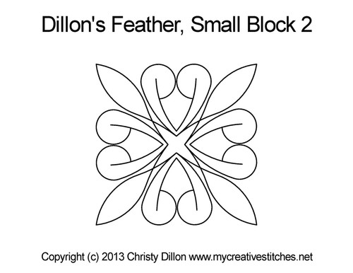 Dillon's feather small block 2 quilt pattern