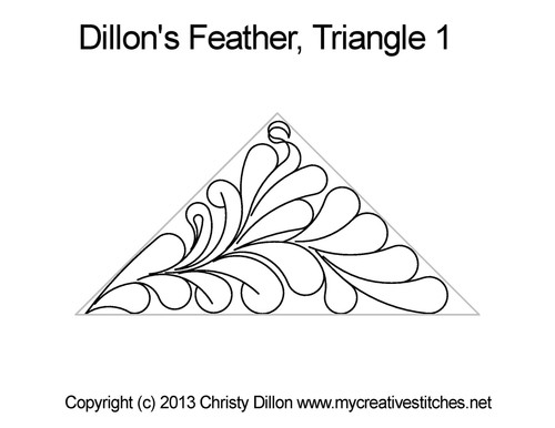 Dillon's feather triangle 1 quilt pattern