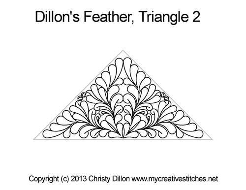 Dillon's feather quilting patterns for triangle 2