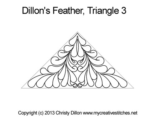 Dillon's feather triangle 3 quilt pattern