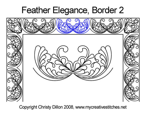Feather elegance border 2 quilting designs