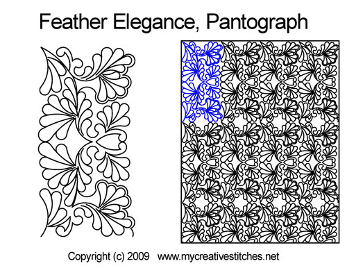 Feather elegance long arm quilting pantographs