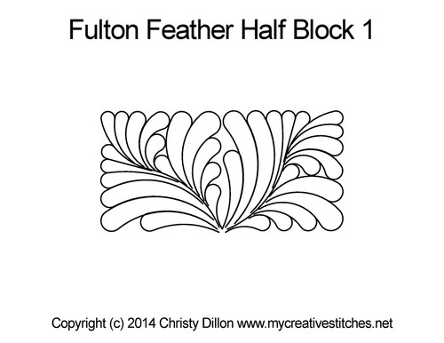 Fulton feather half block 1 quilting designs