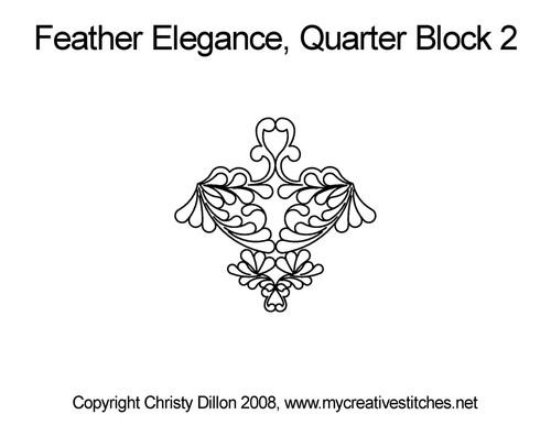Feather elegance quarter block 2 quilt pattern