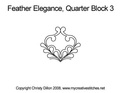 Feather elegance quarter block 3 quilt pattern