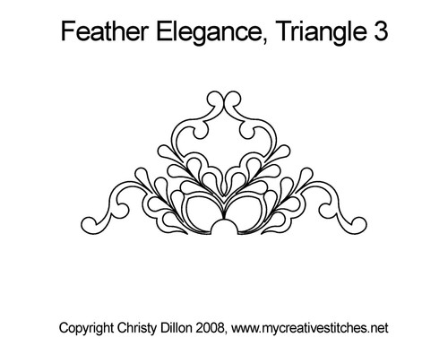 Feather elegance quilt pattern for triangle 3