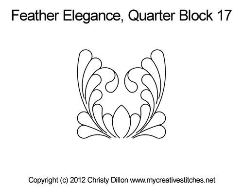 Feather elegance quarter block 17 quilt pattern