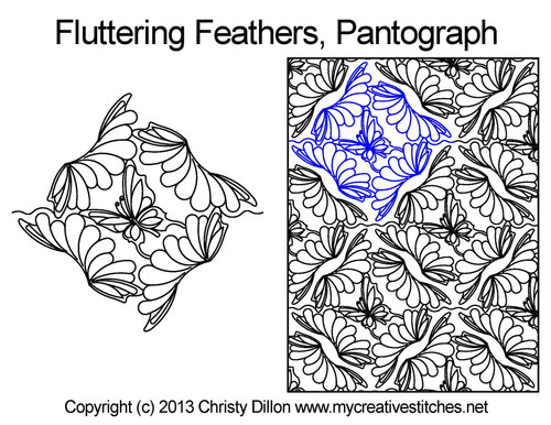 Fluttering feathers long arm pantographs