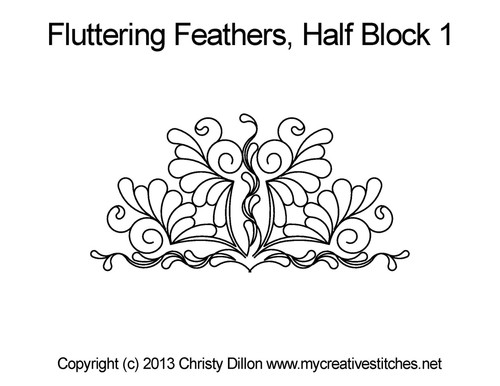 Fluttering feathers half block 1 quilting patterns