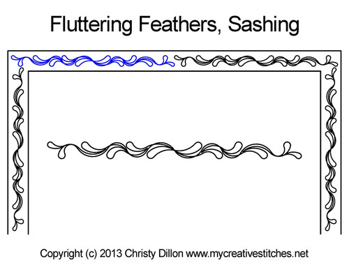 Fluttering feathers sashing quilt patterns