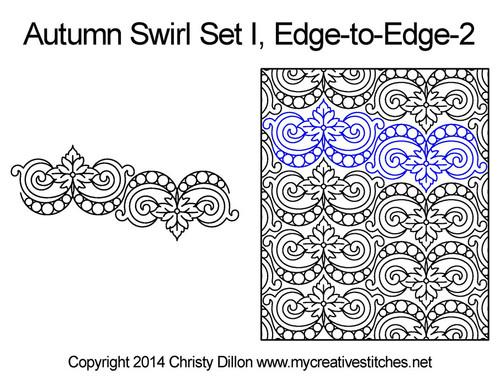 Autumn swirl edge to edge 2 quilt designs