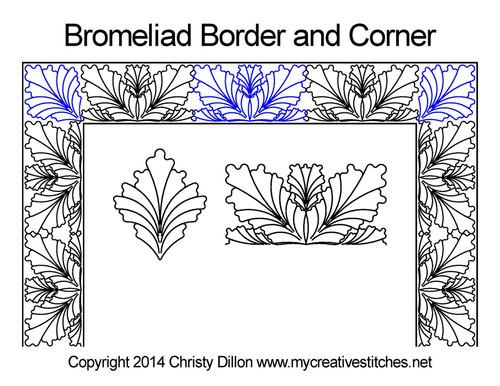 Bromeliad border & corner quilt design