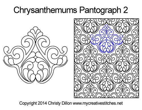 Chrysanthemums digital pantographs 2