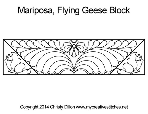 Mariposa flying geese block quilt pattern