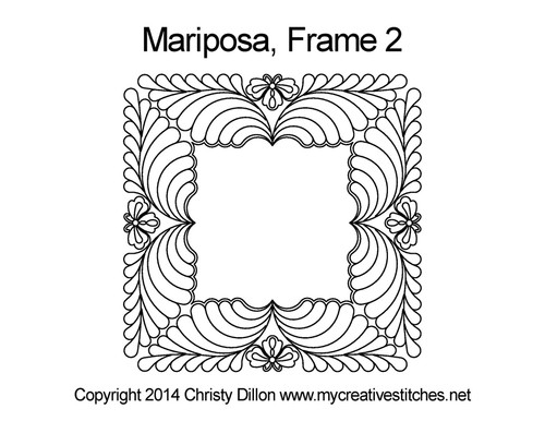 Mariposa digitized frame 2 quilt pattern