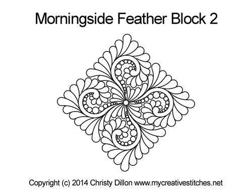 Morningside triangle block 2 quilt pattern