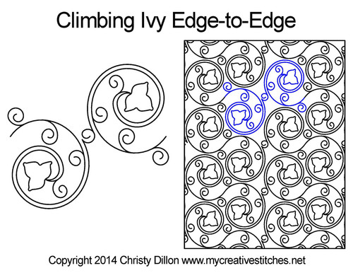 Climbing lvy edge to edge quilt patterns