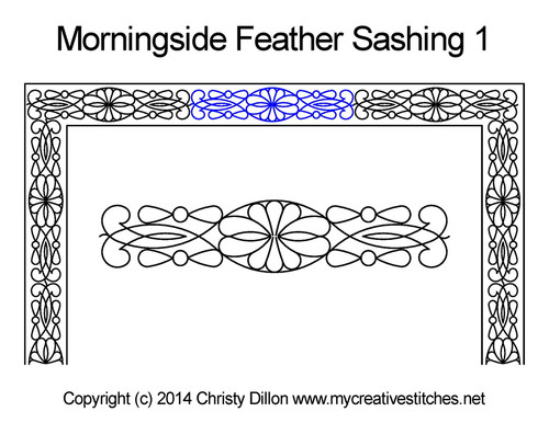 Morningside feather sashing 1 quilting designs