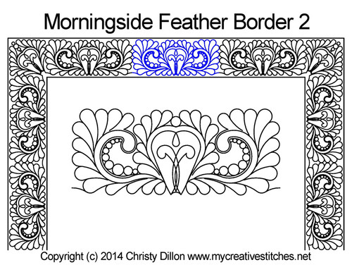 Morningside feather border 2 quilting patterns