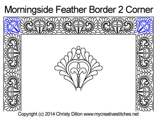 Morningside feather border & corner quilting pattern